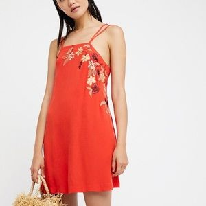 NWT Free People Strappy Embroidered Dress XS